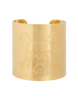 K Kane 18k Gold-Plated French Bulldog Dog Cuff
