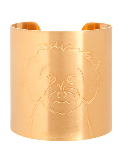 18k Gold-Plated Maltipoo Dog Cuff