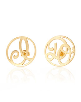 K Kane I Do Stud Earrings, Yellow Gold