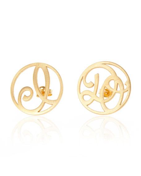 I Do Stud Earrings, Yellow Gold