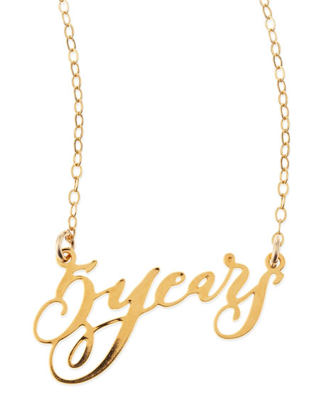 Brevity 5 Years Anniversary Calligraphy Necklace