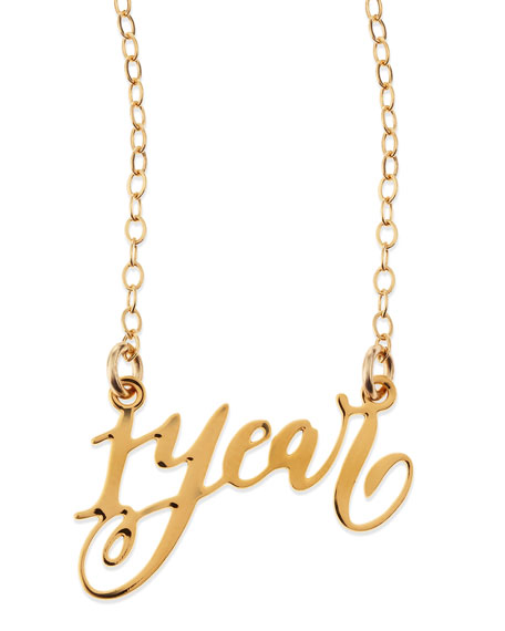 Brevity 1-Year Anniversary Calligraphy Necklace