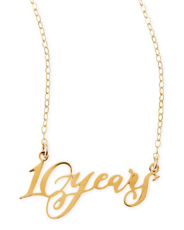 Brevity 10 Years Anniversary Calligraphy Necklace