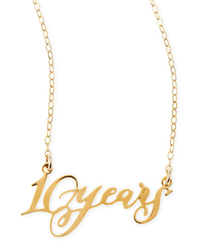 10 Years Anniversary Calligraphy Necklace