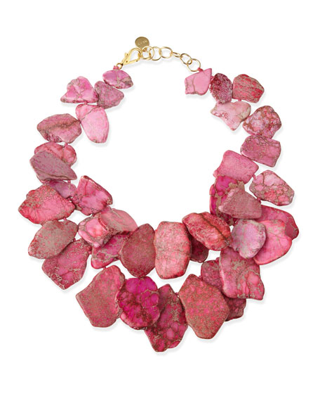 Chunky Light Pink Jasper Necklace