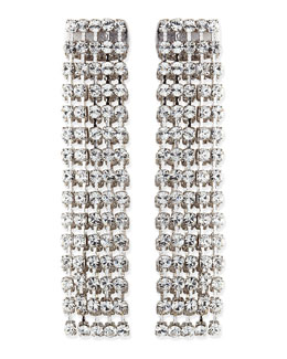 kate spade new york crystal fringe earrings, clear