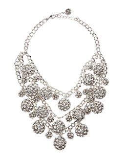 kate spade new york lady marmalade triple strand necklace, clear