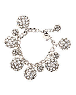 kate spade new york lady marmalade charm bracelet, clear