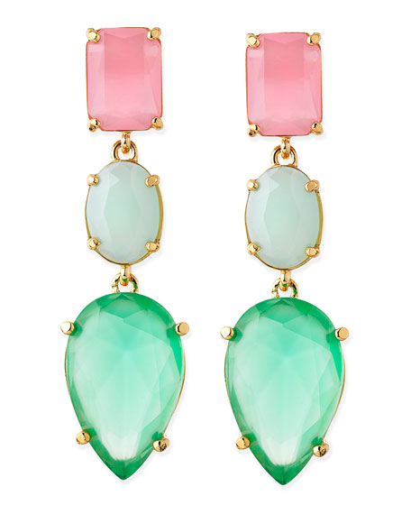 gumdrop crystal earrings, multicolor