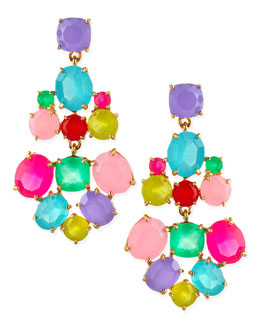 kate spade new york faceted crystal earrings, multicolor