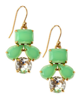 kate spade new york secret garden earrings, green