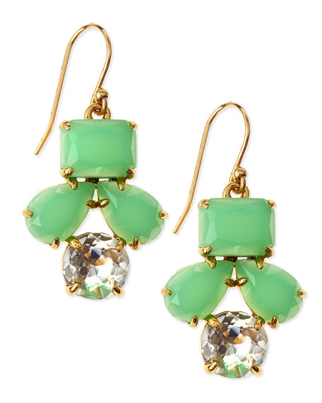 secret garden earrings, green