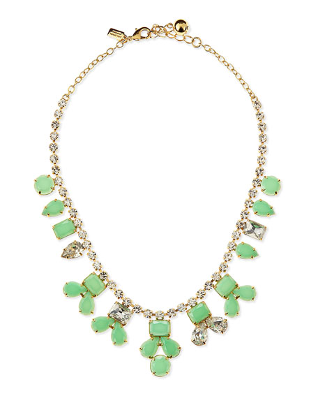 secret garden necklace, green