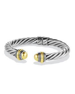 David Yurman Cable Classics Bracelet with Gold Domes