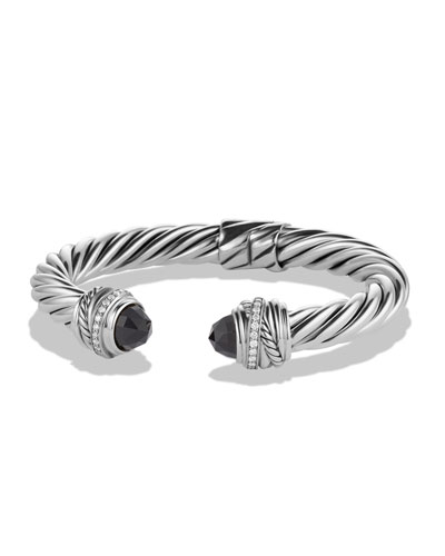 David Yurman Crossover Bracelet with Black Onyx and Diamonds