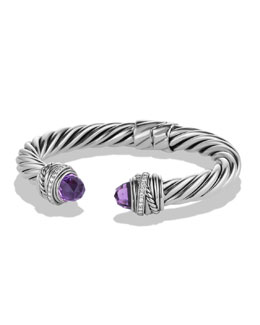 David Yurman Crossover Bracelet with Amethyst and Diamonds