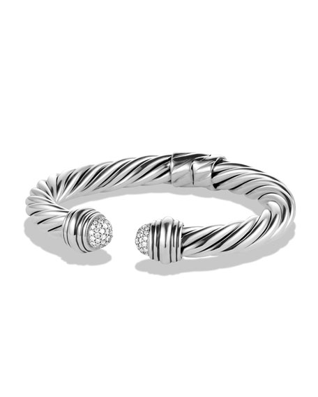 David Yurman Cable Classics Pav?? Tip Bracelet with