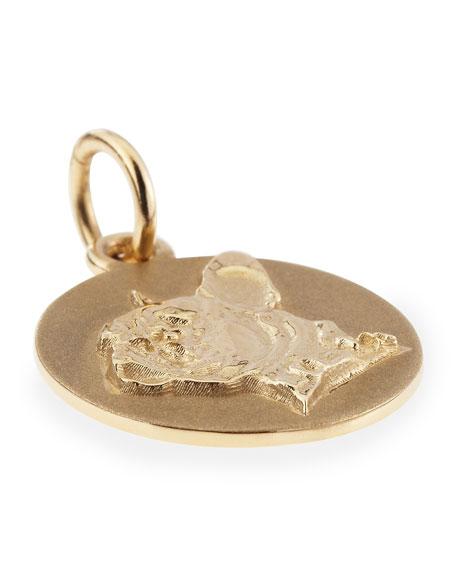 Custom Gold 3D Silhouette Charm