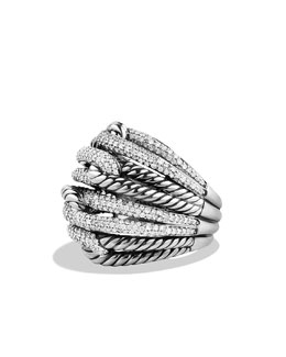 David Yurman Labyrinth Dome Ring with Diamonds