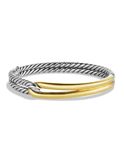 Labyrinth Single-Loop Bracelet with Gold