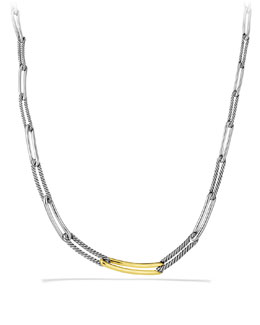David Yurman Labyrinth Link Necklace in Gold
