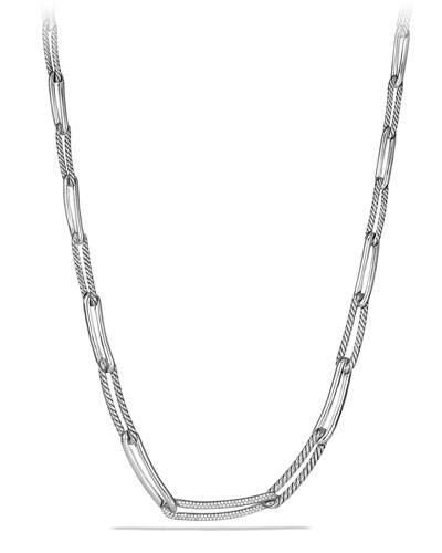David Yurman Labyrinth Link Necklace with Diamonds