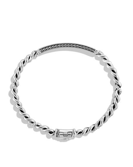 Petite Pavé ID Bracelet with Diamonds