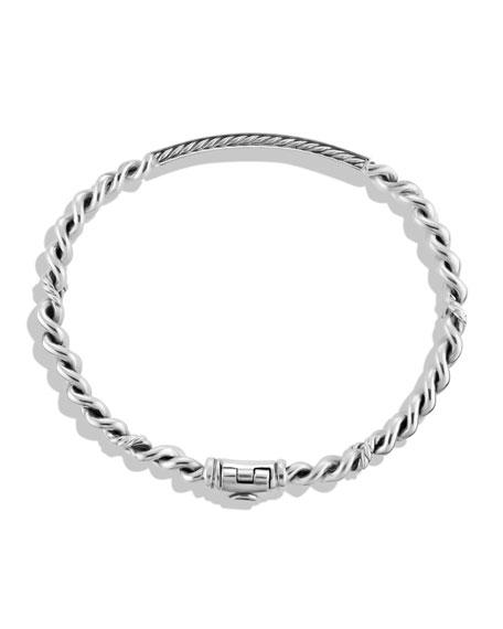Petite Pave Curb Link ID Bracelet with Diamonds