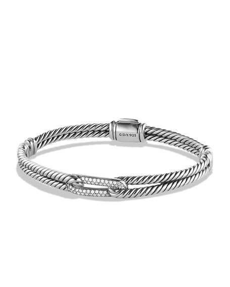 David Yurman Petite Pavé Mini Single-Loop Bracelet with