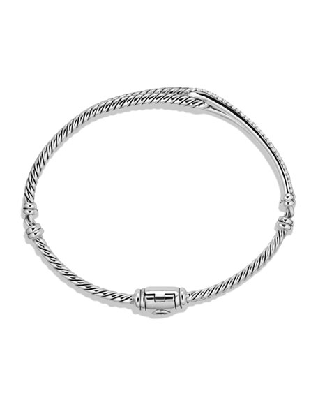 Petite Pave Labyrinth Single-Loop Bracelet with Diamonds