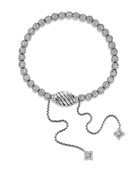 Petite Pavé Spiritual Bead Bracelet with Diamonds