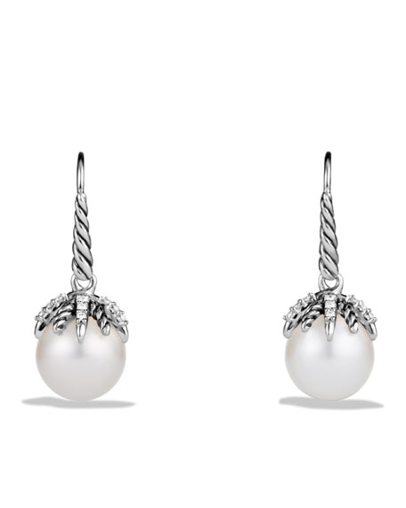 David Yurman Starburst Earrings with Pearls and Diamonds