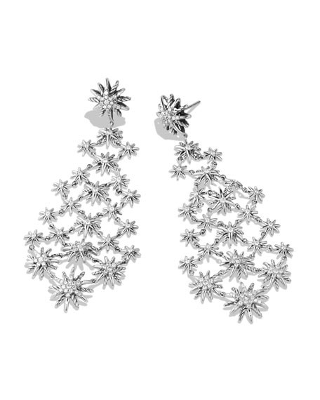 David Yurman Starburst Chandelier Earring with Diamonds