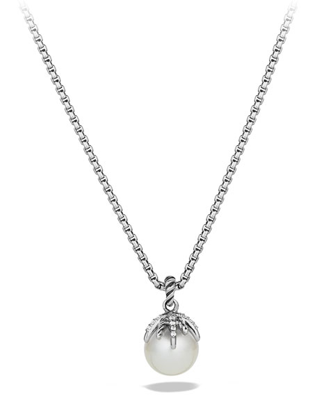 David Yurman Starburst Pearl Pendant with Diamonds on