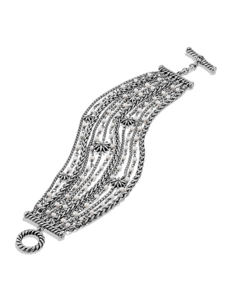 Starburst Chain Bracelet with Pearls