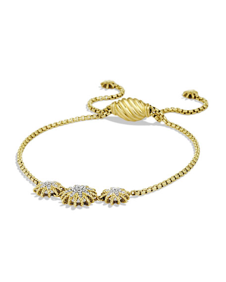 David Yurman Starburst Three-Station Bracelet with Diamonds in