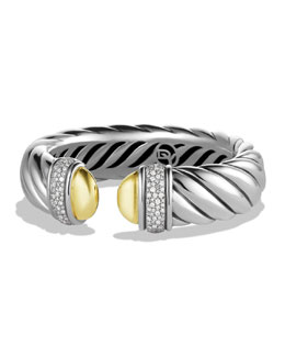 David Yurman Waverly Bracelet with Gold Domes and Diamonds