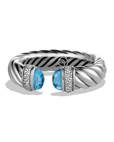 David Yurman Waverly Bracelet with Blue Topaz and Diamonds