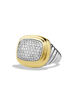David Yurman Waverly Ring with Diamonds and Gold