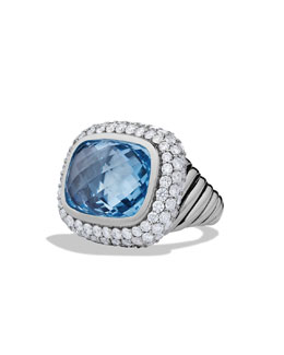 David Yurman Waverly Limited-Edition Ring with Blue Topaz and Diamonds