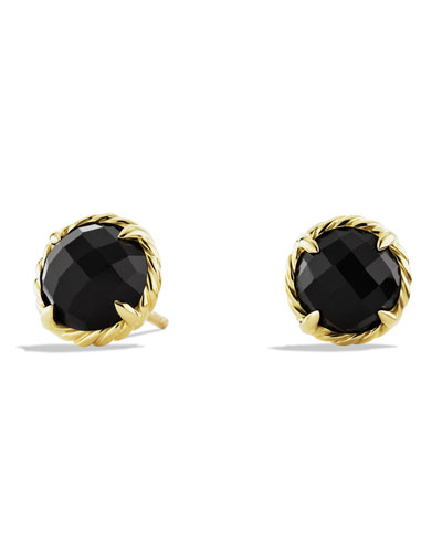 David Yurman Chatelaine Earrings with Black Onyx in Gold