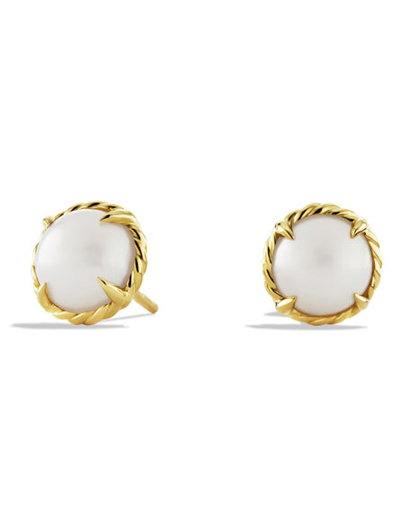 David Yurman Chatelaine Earrings with Pearls in Gold
