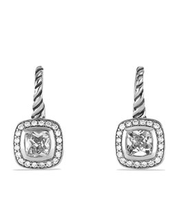 David Yurman Albion Drop Earrings with White Topaz and Diamonds