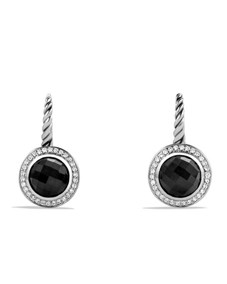 David Yurman Color Classics Drop Earrings with Black Onyx and Diamonds