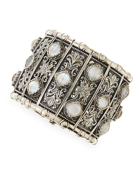 Aura Silver & Mother-of-Pearl Cuff Bracelet