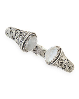 Konstantino Aura Silver & Mother-of-Pearl Hinged Bracelet