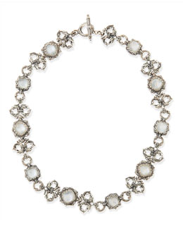Konstantino Aura Silver Scroll & Mother-of-Pearl Station Necklace