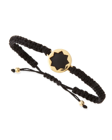 Sunburst Wrap Bracelet, Black/Gold