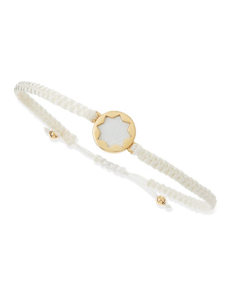 Sunburst Wrap Bracelet, White/Gold