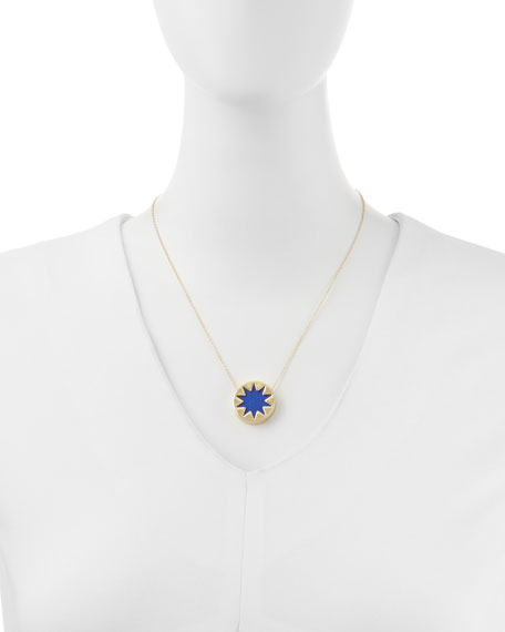 House of harlow mini sunburst pendant necklace cobalt mini sunburst pendant necklace cobalt mozeypictures Image collections